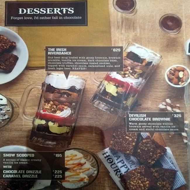 The Irish House menu 10