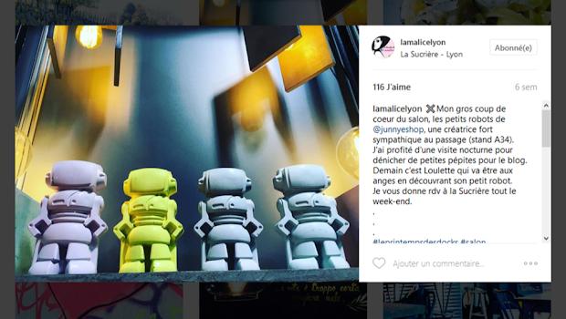junny sur insta avec alice la Malice lyon pour les robots en béton