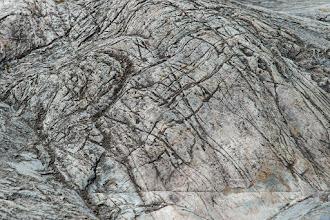 Photo: Rock scored by ancient glacier movement near Mendenhall Glacier