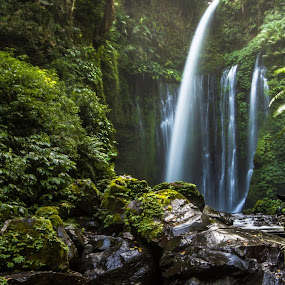 Tiu Kelep Waterfall by Einto R - Landscapes Forests
