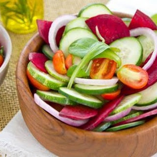 Beets, Cucumber and Tomatoes Salad