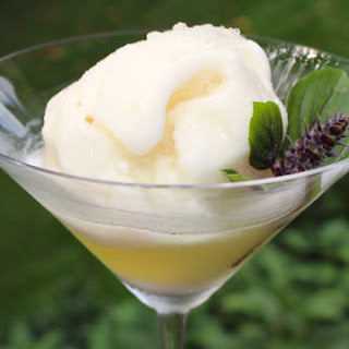 Lemon Sorbet & Limoncello Cocktail.