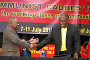 SACP general secretary Blade Nzimande and President Cyril Ramaphosa.