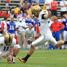 THE KICKER by Diana Cantey - Sports & Fitness American and Canadian football ( diana cantey sports photography, diana cantey photography, diana cantey, army football, diana cantey photographer,  )