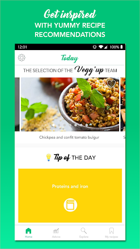 Vegg'up - Veggie recipes screenshots 1