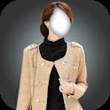 Girl Winter Coats Fleece Jacket photo montage icon