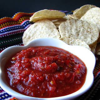 Habanero Garlic Salsa.