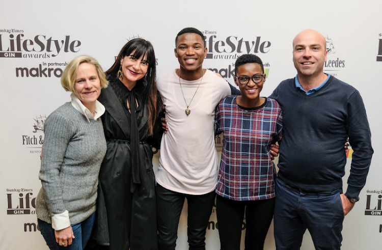 The Sunday Times Lifestyle Gin Awards judges: Jen Buckham, Aspasia Karras, Thami Shobede, Lihle Msimang and Higgo Jacobs