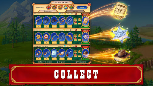 Jewels of the Wild West: Match gems & restore town android2mod screenshots 12