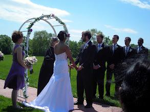 Photo: During the wedding ceremony