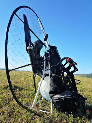 Europe's lightest paramotor design, Miniplane frames with the power of a Moster plus