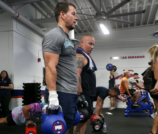 Mark Wahlberg Works Out With Marines at First Fitness Studio to Open on Military Base