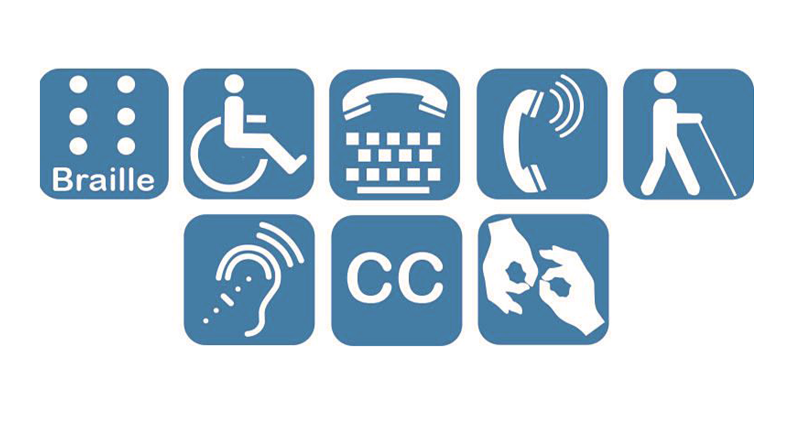 illustration of disability types