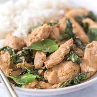Easy Thai Basil Chicken.