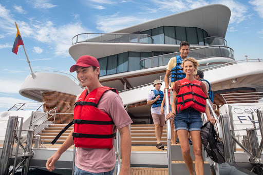 Celebrity Flora allows you to board tenders off the aft deck, making shore excursions more accessible than ever.