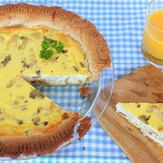 Grilled Cauliflower & Mushroom Quiche.