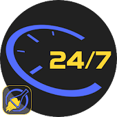 24 Hours Clock Watch Face