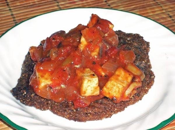 South Western Tofu On A Corn Cake Recipe