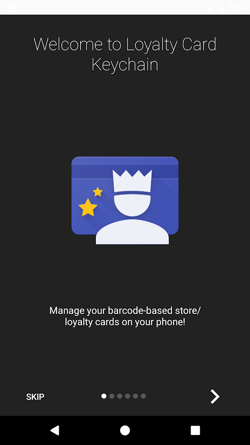 Loyalty Card Keychain- screenshot