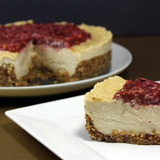 Cultured Cashew Cheesecake and Cinnamon Pecan Crust
