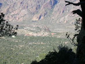 Photo: The Basin lodge below.