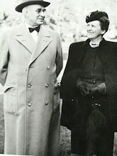 Photo: Governor Gardner and Miss Fay at Gardner Webb University, Boiling Springs, NC, 1946