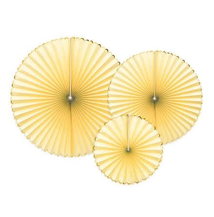 Dekorationsrosetter - Yummy ljusgul