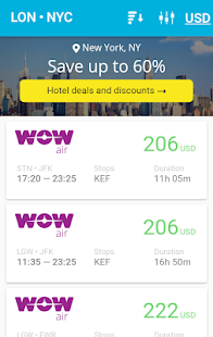Scanner cheap flights to all airlines