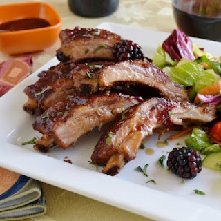 BLACKBERRY GLAZED RIBS