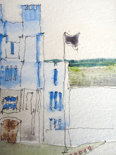 Photo: three years later, the tower still weeps (collection of A. Geva), 7,16,2011, 5x7, watercolor on paper
