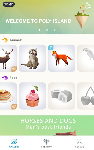 Poly Island: create, color, relax apkpoly screenshots 11