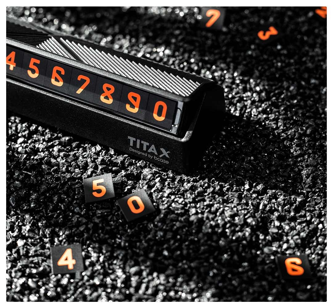 Bảng số điện thoại cho ô tô Bcase TITA X