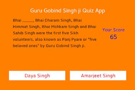 Guru Gobind Singh ji Quiz App - náhled