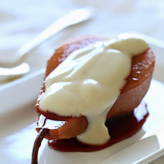Poached Pears with Yogurt