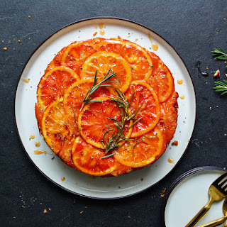 Blood Orange and Rosemary Upside Down Cake.