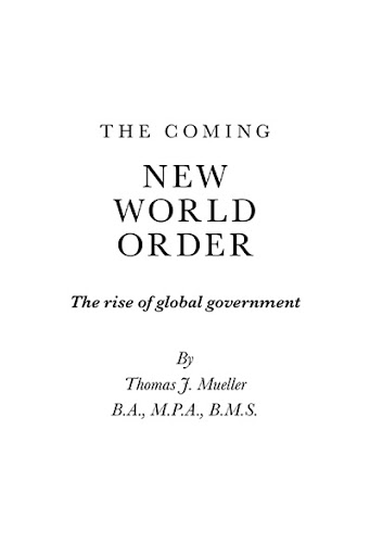 The Coming New World Order cover
