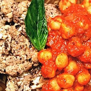 Coriander-Curry Garbanzo Beans.