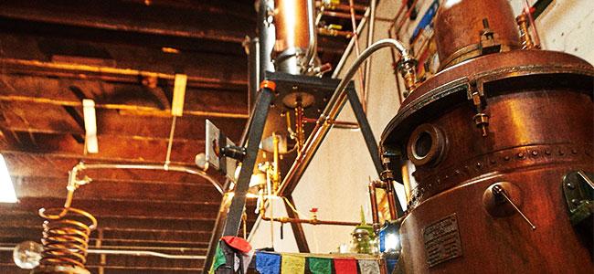 Ashley, Wood's High Mountain Distillery Antique German Pot Still.