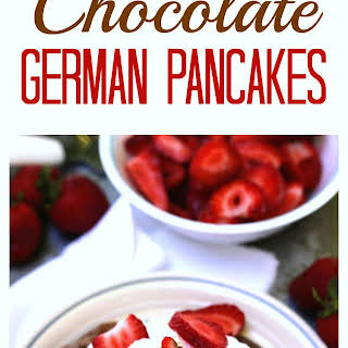 Protein Packed Chocolate German Pancakes.
