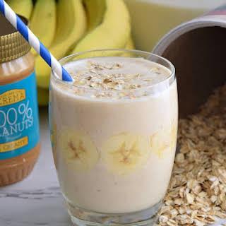 Banana Oatmeal Breakfast Smoothie.
