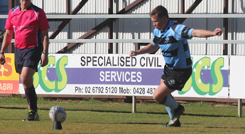 Michael Cain kicked the winning penalty goal to put Narrabri ahead 38-37 in its one-point win on Saturday against the Pirates.