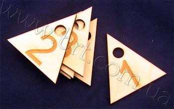Photo: Фигурные номерки для ключей из дерева.  Сделано лазером