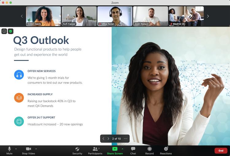 Screenshot of the Zoom Virtual Event Platform