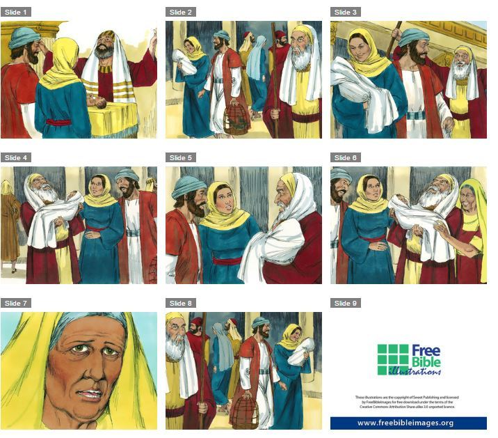 Free Bible images : Siméon et Anne (Jésus au temple)