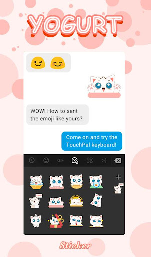 Cute Yogurt Keyboard Sticker