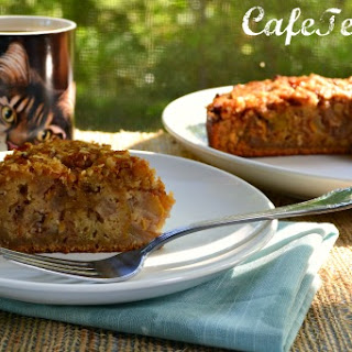 Roasted Pear & Pecan Coffee Cake
