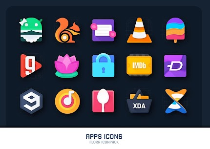 Flora : Material Icon Pack (MOD, Paid) v1.4 4
