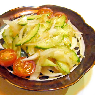 New Onion with Cucumber and Bonito