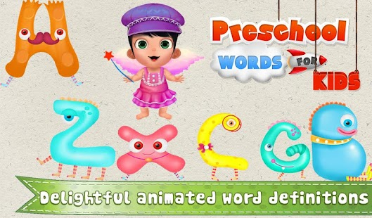Printables I Words For Kids With Pictures preschool words for kids android apps on google play screenshot thumbnail