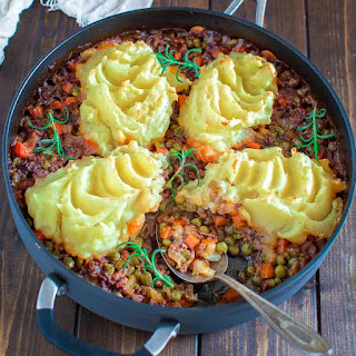 Easy Shepherd's Pie with Leftover Mashed Potatoes.
